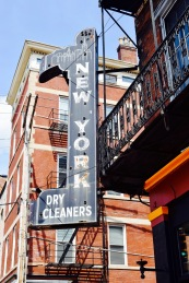 retro dry cleaners sign picture
